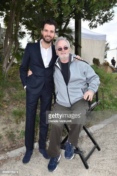 Producer Andrea Iervolino and Bobby Moresco attend On Set Of BENT By AMBI Media Groupon March 23 2017 in Rome Italy