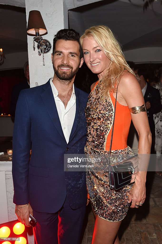 Producer Andrea Iervolino and Princess Lilly zu Sayn Wittgenstein Berleburg attends Monika Bacardi Summer Party 2014 St Tropez at Les Moulins de Ramatuelle on July 27, 2014 in Saint-Tropez, France.