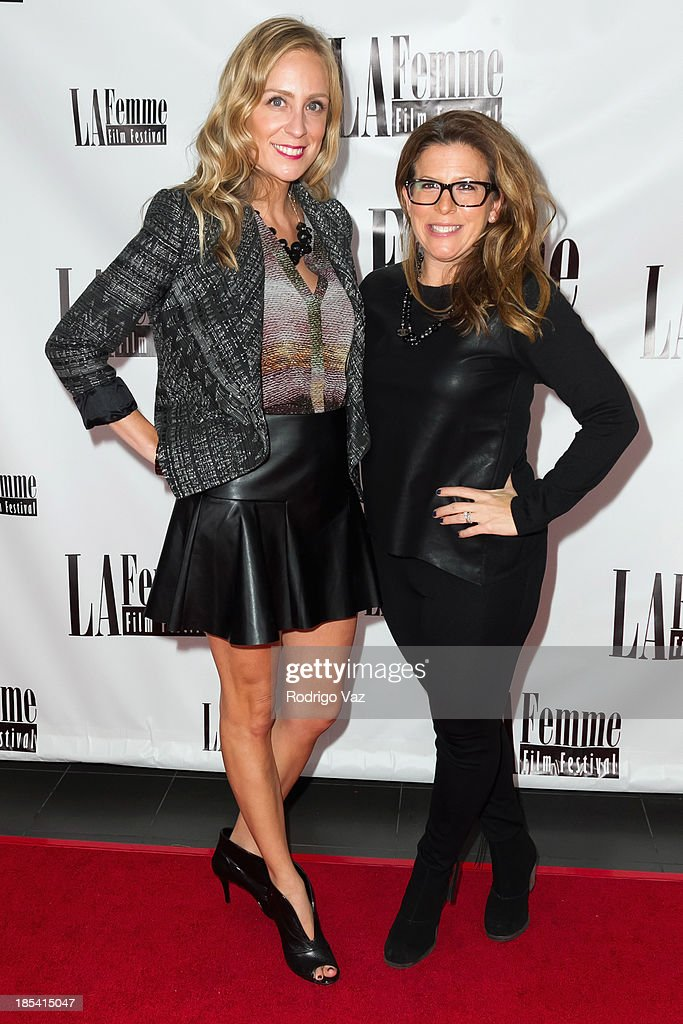 Producer Andrea Pappas (L) and director Michelle Regina attend the 9th Annual La Femme International Film Festival 'A Case Of You' premiere at Regal Cinemas L.A. Live on October 19, 2013 in Los Angeles, California.