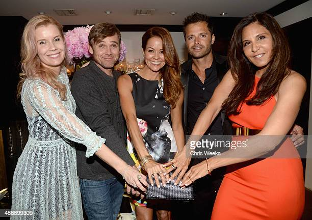 Producer Andrea Schroder actors Ricky Schroder Brooke BurkeCharvet and David Charvet and owner/designer of Chrome Hearts Laurie Lynn Stark attend...