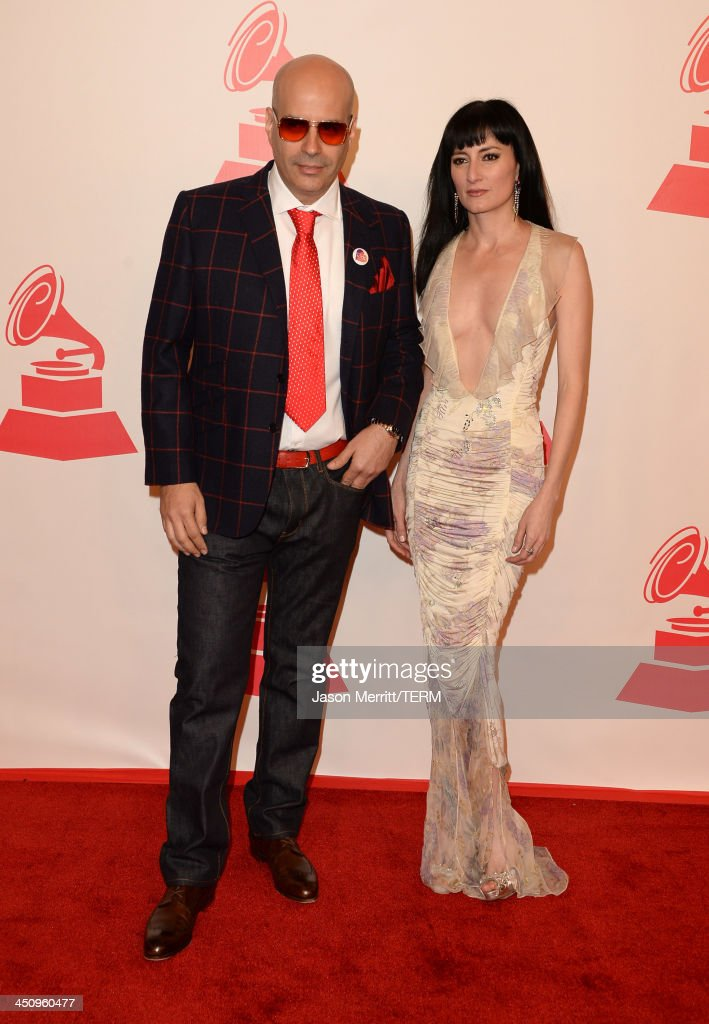 Producer Andres Levin and Cucu Diamantes arrive at the 2013 Latin Recording Academy Person Of The Year honoring Miguel Bose at the Mandalay Bay Convention Center on November 20, 2013 in Las Vegas, Nevada.