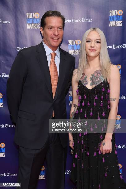 Producer Andrew Duncan and actor Bria Vinaite attend IFP's 27th Annual Gotham Independent Film Awards on November 27 2017 in New York City