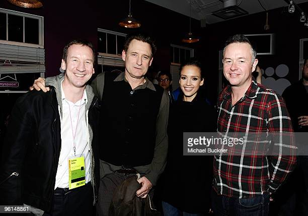 COVERAGE** Producer Andrew Eaton actor Bill Pullman actress Jessica Alba and director Michael Winterbottom attend 'The Killer Inside Me' dinner at...