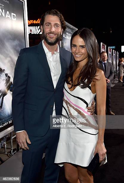 Producer Andrew Form and actress Jordana Brewster attend the premiere of Paramount Pictures' 'Project Almanac' at TCL Chinese Theatre on January 27...
