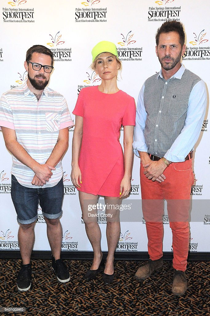 Producer Andrew Houchens, Actor and director Lily Baldwin and Musician Mark degli Antoni attend the 2016 Palm Springs International ShortFest - Saturday Screenings & Events on June 25, 2016 in Palm Springs, California.