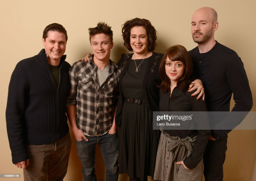 Producer Andrew van den Houten, actors Daniel Manche, Sean Young and Lauren Ashley Carter and filmmaker Chad Crawford Kinkle pose for a portrait during the 2013 Sundance Film Festival at the Getty Images Portrait Studio at Village at the Lift on January 22, 2013 in Park City, Utah.