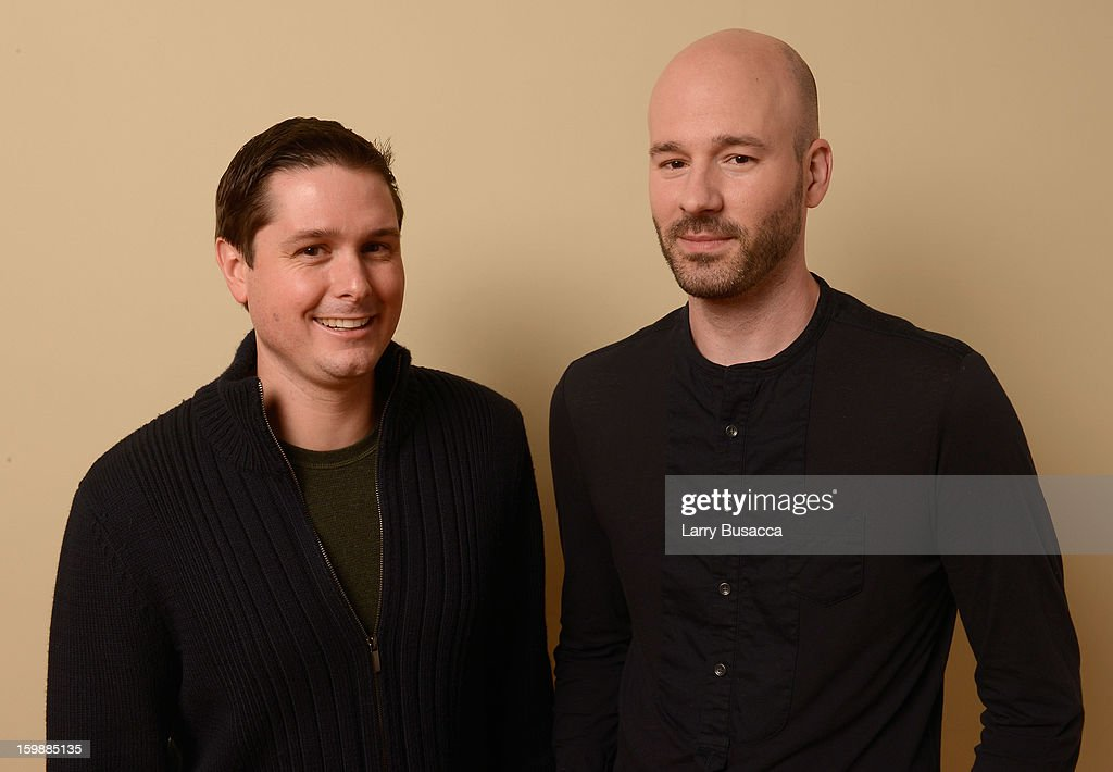 Producer Andrew van den Houten (L) and filmmaker Chad Crawford Kinkle pose for a portrait during the 2013 Sundance Film Festival at the Getty Images Portrait Studio at Village at the Lift on January 22, 2013 in Park City, Utah.