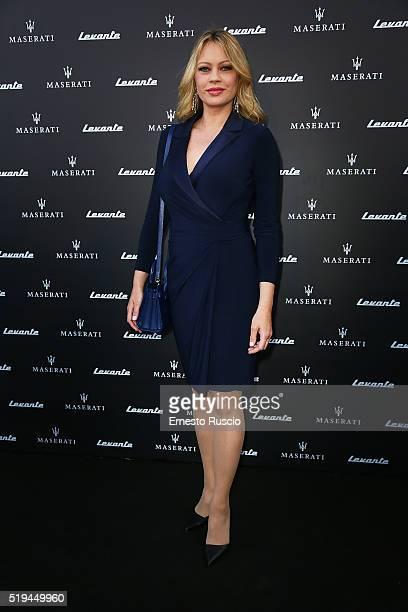 Producer Anna Falchi attends the 'Maserati Levante' Presentation at Casa Delle Armi on April 6 2016 in Rome Italy