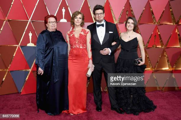 Producer Anna Udvardy filmmaker Kristof Deak and guests attend the 89th Annual Academy Awards at Hollywood Highland Center on February 26 2017 in...