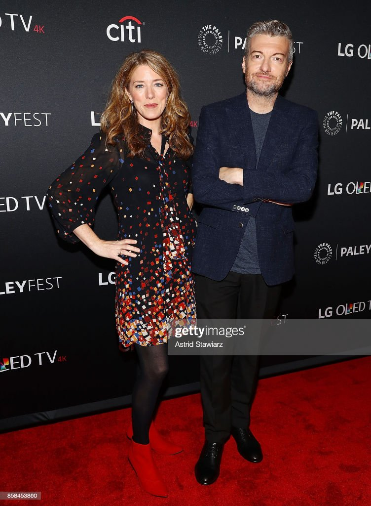 Producer Annabel Jones and creator of 'Black Mirror', Charlie Brooker attend 'Black Mirror' during PaleyFest NY 2017 at The Paley Center for Media on October 6, 2017 in New York City.
