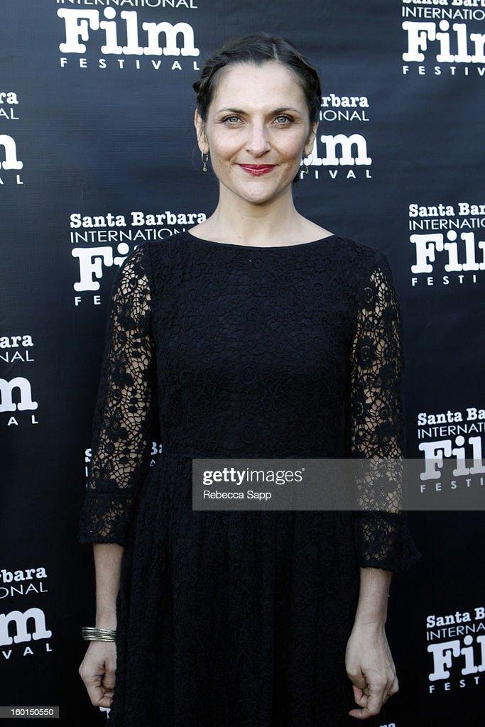 Producer Antonia Zegers attends the 28th Santa Barbara International Film Festival Gala Screening Of 'No' on January 26 2013 in Santa Barbara...