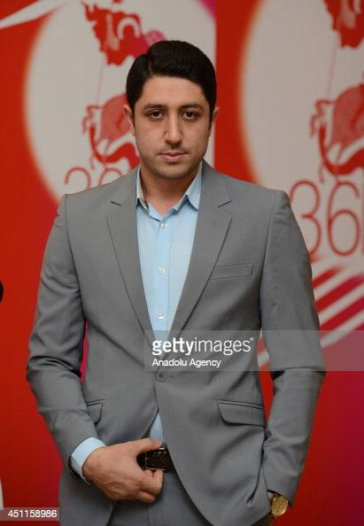 Producer Arash Elyasi poses during press conference for the film Unripe Pomegranates during the 36th Moscow International Film Festival at Kinoaktera...