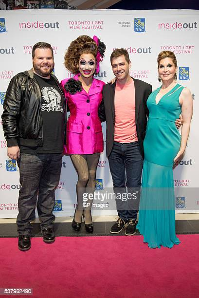 Producer Ash Christian actress Bianca Del Rio director Matt Kugleman and actress Bianca Leigh attend the world premiere of 'Hurricane Bianca' at TIFF...