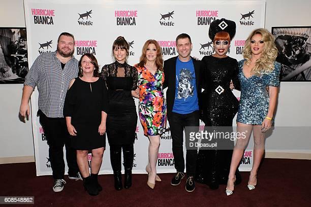 Producer Ash Christian Rachel Dratch Molly Ryman Bianca Leigh director Matt Kugelman Bianca Del Rio and Willam Belli attend the 'Hurricane Bianca'...