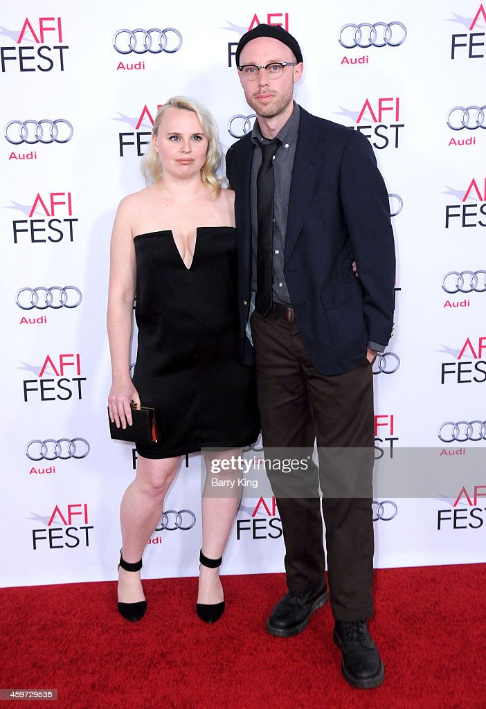 Producer <a gi-track='captionPersonalityLinkClicked' href=/galleries/search?phrase=Ashley+Young&family=editorial&specificpeople=623155 ng-click='$event.stopPropagation()'>Ashley Young</a> and director Joel Potrykus arrive at the AFI FEST 2014 Presented by Audi - 'Cinema Paradiso' Special Screening held at Dolby Theatre on November 10, 2014 in Hollywood, California.