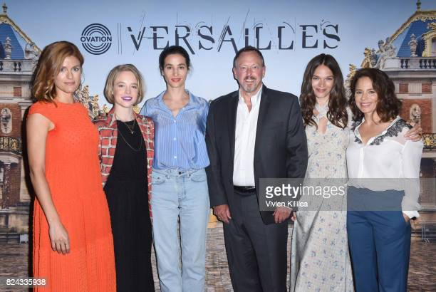 Producer Aude Albano actresses Jessica Clark and Elisa Lasowski CFO at Ovation Phil Gilligan and actresses Anna Brewster and Suzanne Clement attend...