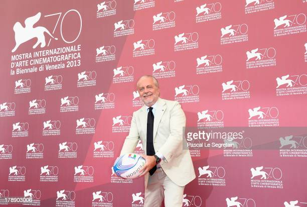Producer Aurelio De Laurentiis attends 'Il Terzo Tempo' Photocall during the 70th Venice International Film Festival at the Palazzo del Casino on...