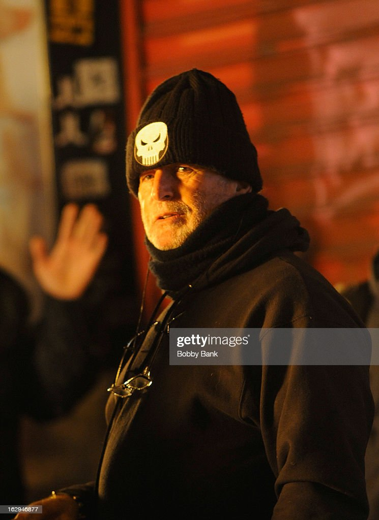Producer <a gi-track='captionPersonalityLinkClicked' href=/galleries/search?phrase=Avi+Arad&family=editorial&specificpeople=208963 ng-click='$event.stopPropagation()'>Avi Arad</a> filming on location for 'The Amazing Spiderman 2' on March 1, 2013 in New York City.