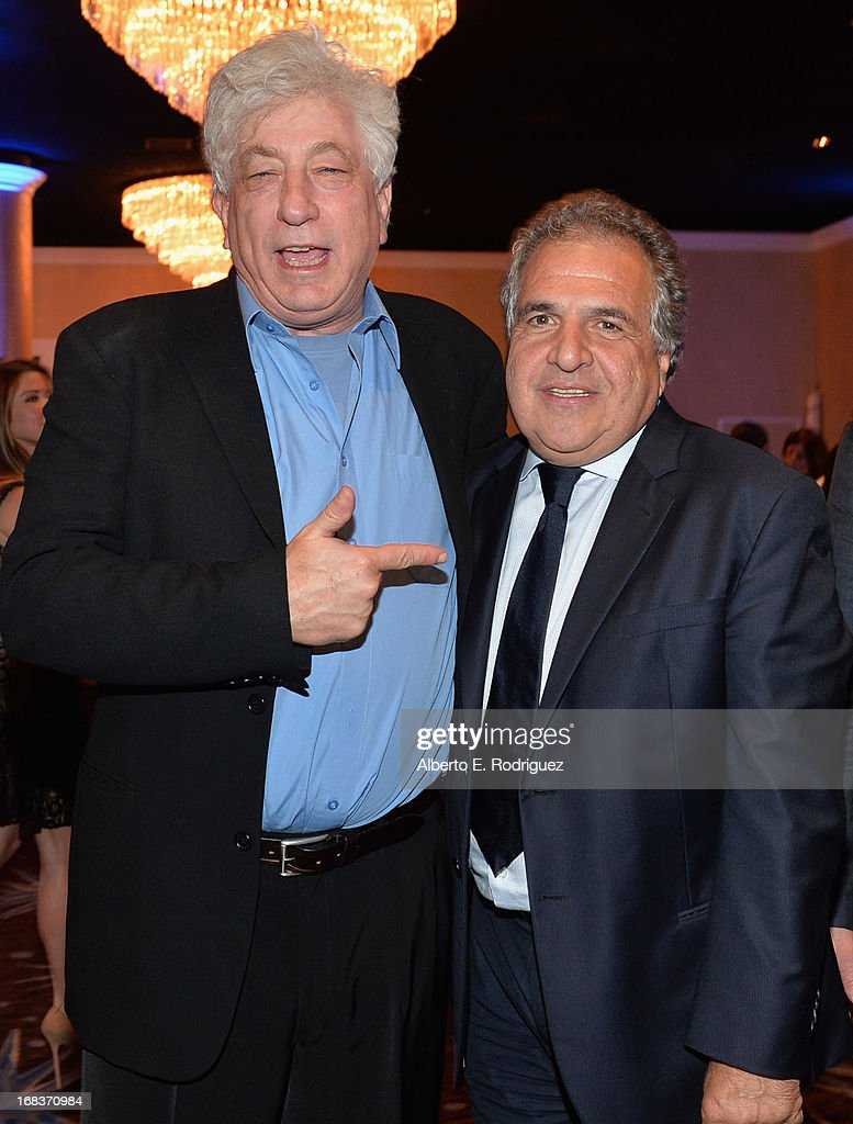 Producer Avi Lerner and 20th Century Fox Filmed Entertainment Chairman & CEO <a gi-track='captionPersonalityLinkClicked' href=/galleries/search?phrase=Jim+Gianopulos&family=editorial&specificpeople=211611 ng-click='$event.stopPropagation()'>Jim Gianopulos</a> attend the Anti-Defamation League's Centennial Entertainment Industry Award Dinner at The Beverly Hilton Hotel on May 8, 2013 in Beverly Hills, California.