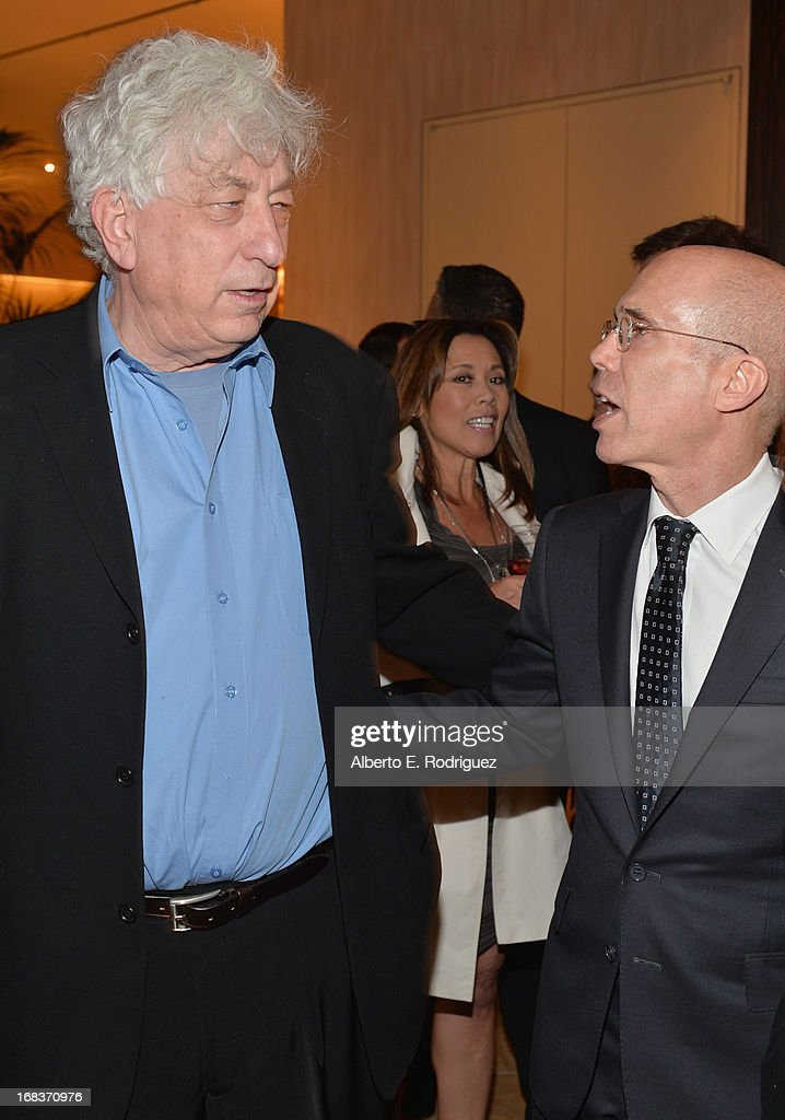 Producer Avi Lerner and Dreamworks Animation CEO <a gi-track='captionPersonalityLinkClicked' href=/galleries/search?phrase=Jeffrey+Katzenberg&family=editorial&specificpeople=171496 ng-click='$event.stopPropagation()'>Jeffrey Katzenberg</a> attend the Anti-Defamation League's Centennial Entertainment Industry Award Dinner at The Beverly Hilton Hotel on May 8, 2013 in Beverly Hills, California.