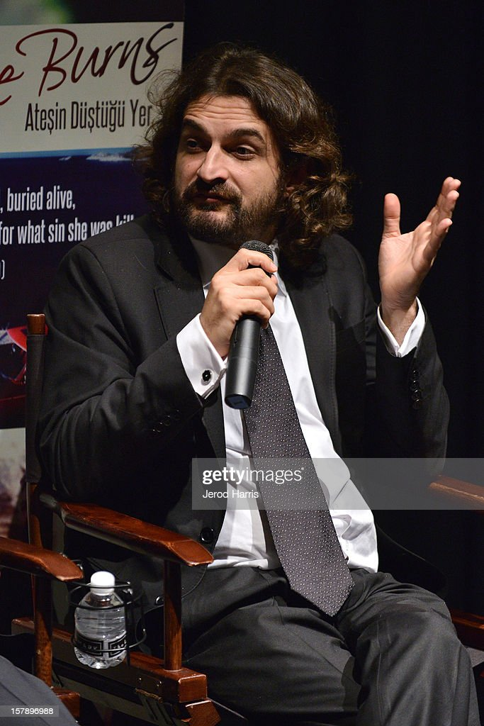 Producer Baran Seyhan participates in a Q&A session following TheWrap's Awards Season Screening Series of Atesin Dustugu Yer 'Where The Fire Burns' on December 6, 2012 in Los Angeles, California.