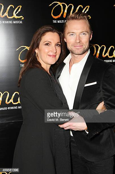 Producer Barbara Broccoli and Ronan Keating attend an after party following the press night performance of 'Once' as Ronan Keating joins the cast at...