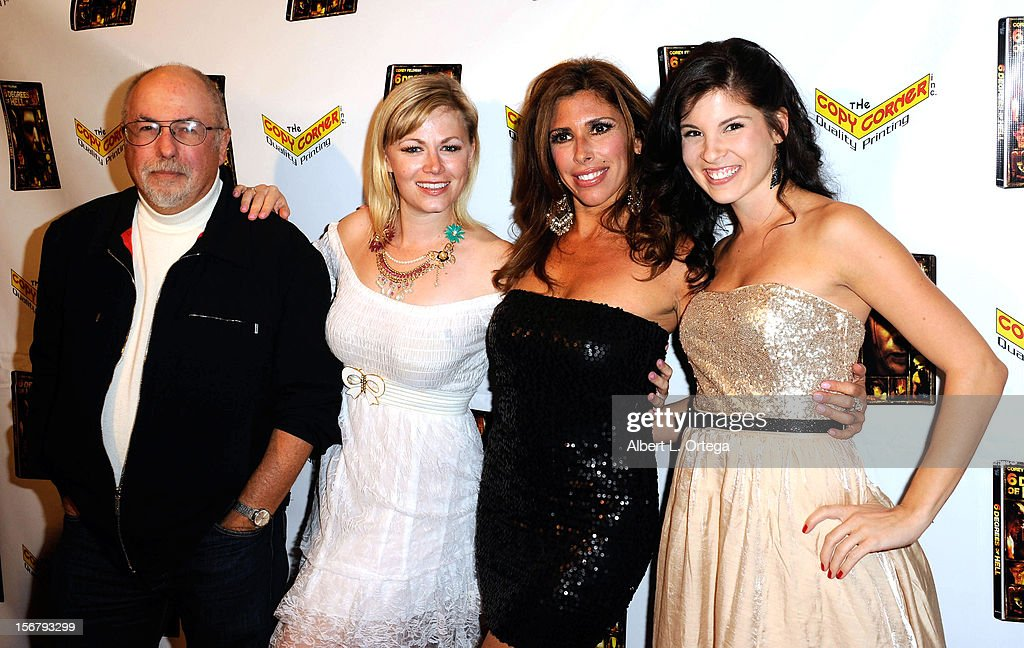Producer Barne Cohen, actress Jessica Cameron, actress Felissa Rose and actress Nicole Elise Ciacaglia arrives Premiere Of '6 Degrees Of Hell' - Arrivals held at Laemmle Music Hall 3 on November 20, 2012 in Beverly Hills, California.