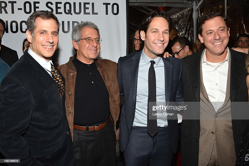 Producer Barry Mendel, Universal Studios President and COO Ron Meyer, actor Paul Rudd and Universal Pictures Chairman Adam Fogelson attend 'This Is 40' - Los Angeles Premiere - Red Carpet at Grauman's Chinese Theatre on December 12, 2012 in Hollywood, California.