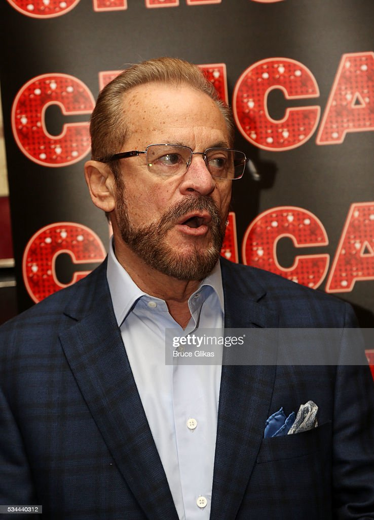 Producer Barry Weissler poses as Camil meets the press as he prepares to join 'Chicago' on Broadway as 'Billy Flynn' (from May 31-July 3) at The Algonquin Hotel on May 26, 2016 in New York City.