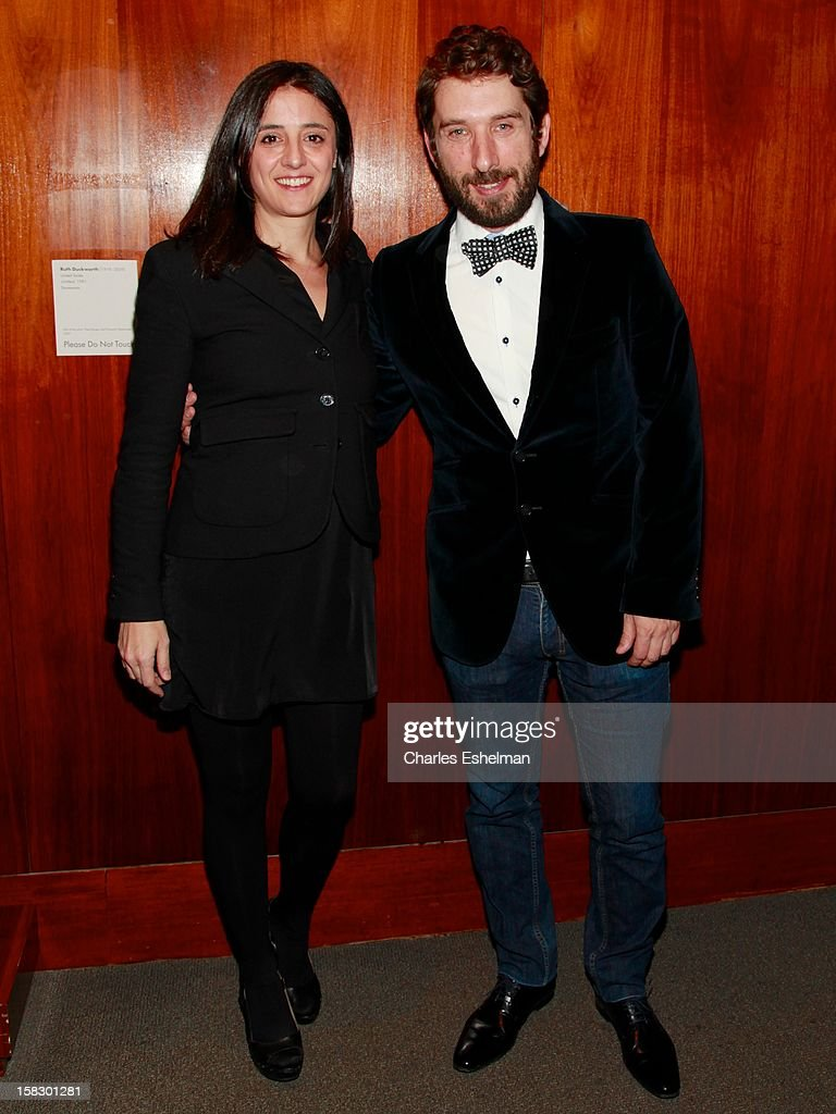 Producer Belen Atienza and writer Sergio Sanchez attend 'The Impossible' screening at the Museum of Art and Design on December 12, 2012 in New York City.