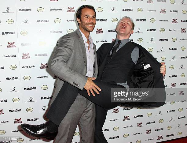 Producer Ben Silverman and director Morgan Spurlock attend the premiere of Morgan Spurlock's 'Mansome' at the ArcLight Cinemas on May 9 2012 in...