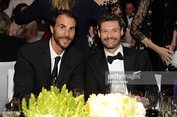 Producer Ben Silverman and LACMA Trustee Ryan Seacrest attend LACMA's 50th Anniversary Gala sponsored by Christie's at LACMA on April 18 2015 in Los...