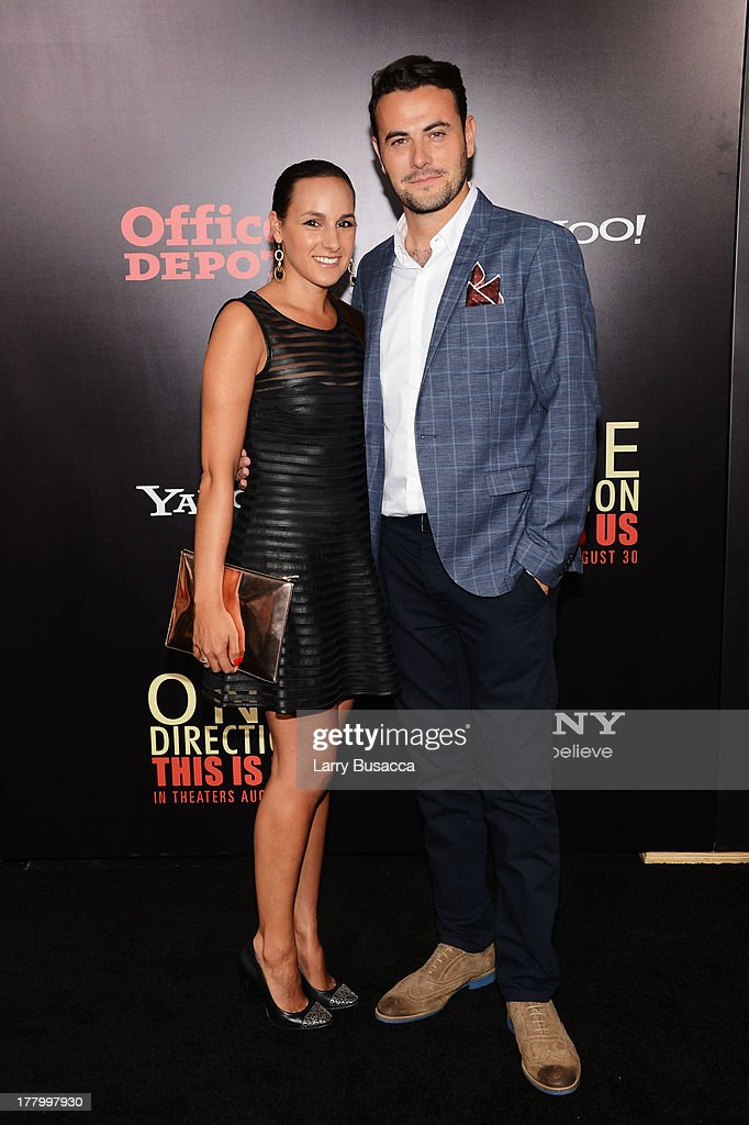 Producer Ben Winston (R) and Meredith Winston attends the New York premiere of 'One Direction: This Is Us' at the Ziegfeld Theater on August 26, 2013 in New York City.