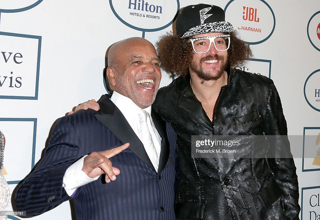 Producer Berry Gordy (L) and recording artist <a gi-track='captionPersonalityLinkClicked' href=/galleries/search?phrase=Redfoo&family=editorial&specificpeople=5857552 ng-click='$event.stopPropagation()'>Redfoo</a> attend the 56th annual GRAMMY Awards Pre-GRAMMY Gala and Salute to Industry Icons honoring Lucian Grainge at The Beverly Hilton on January 25, 2014 in Beverly Hills, California.