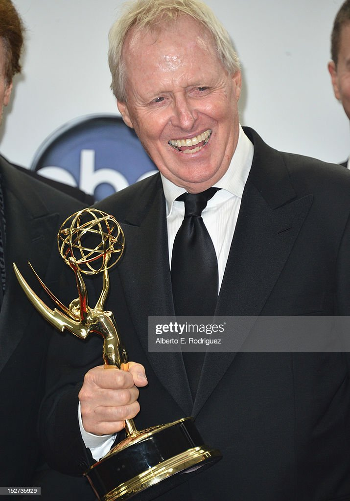 Producer Bertram van Munster poses in the 64th Annual Emmy Awards press room at Nokia Theatre L.A. Live on September 23, 2012 in Los Angeles, California.