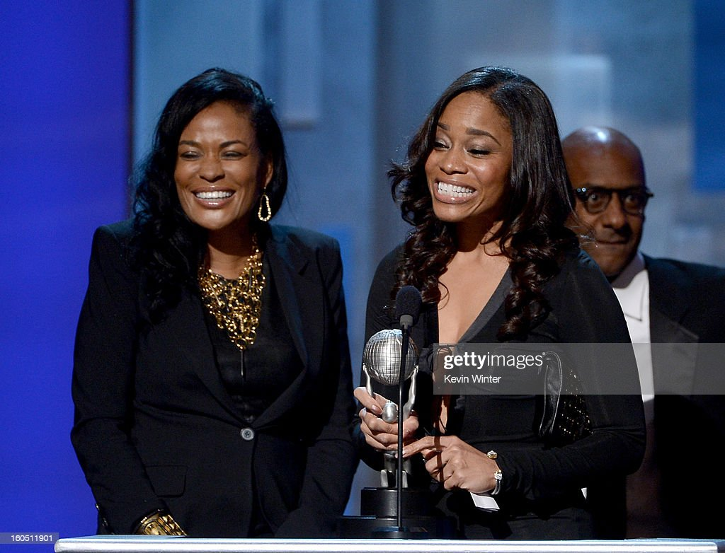 Producer Beverly Bond, Vice President of Original Programming for BET Connie Orlando, and BET President of Music Programming & Specials Stephen Hill accept Variety Series or Special Award for 'Black Girls Rock' onstage during the 44th NAACP Image Awards at The Shrine Auditorium on February 1, 2013 in Los Angeles, California.