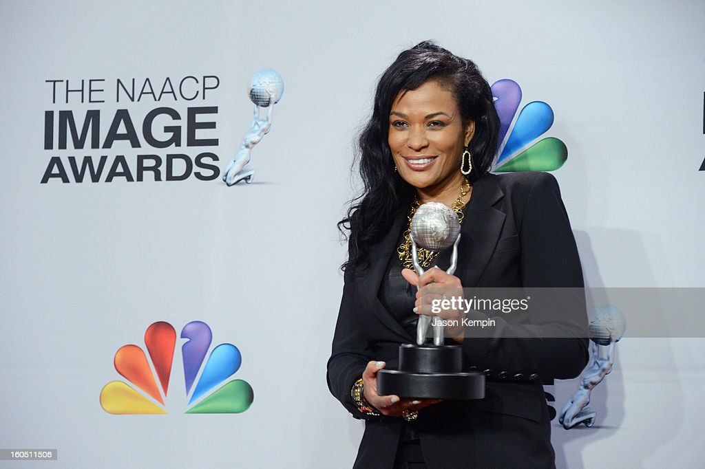 Producer Beverly Bond, winner of the Variety Series or Special Award for 'Black Girls Rock' poses in the press room during the 44th NAACP Image Awards at The Shrine Auditorium on February 1, 2013 in Los Angeles, California.