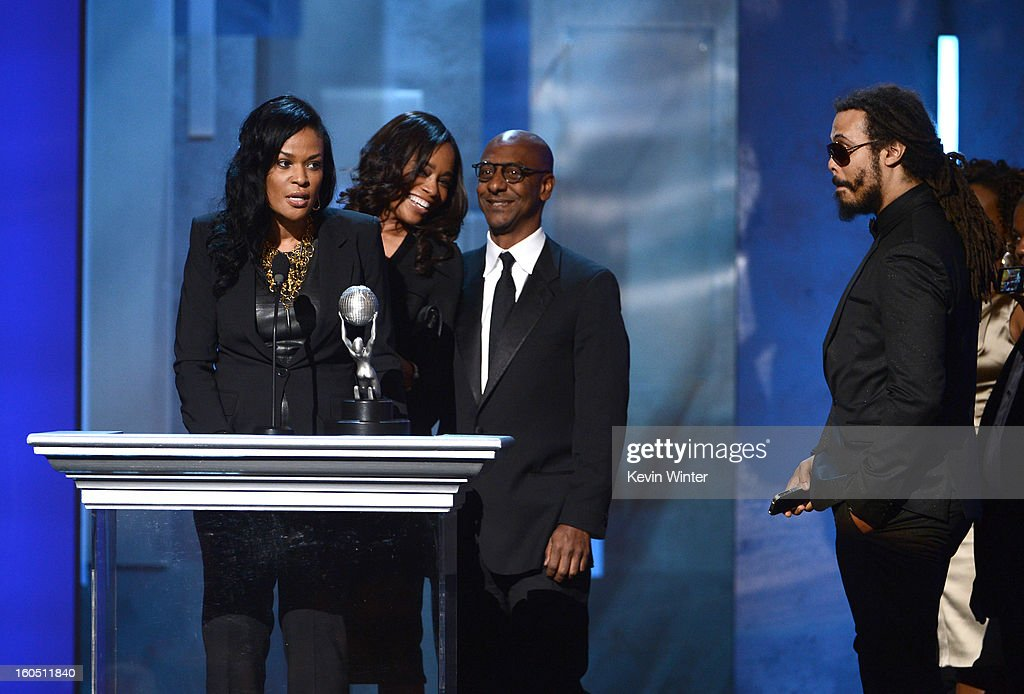 Producer Beverly Bond, winner of the Variety Series or Special Award for 'Black Girls Rock,' speaks onstage during the 44th NAACP Image Awards at The Shrine Auditorium on February 1, 2013 in Los Angeles, California.