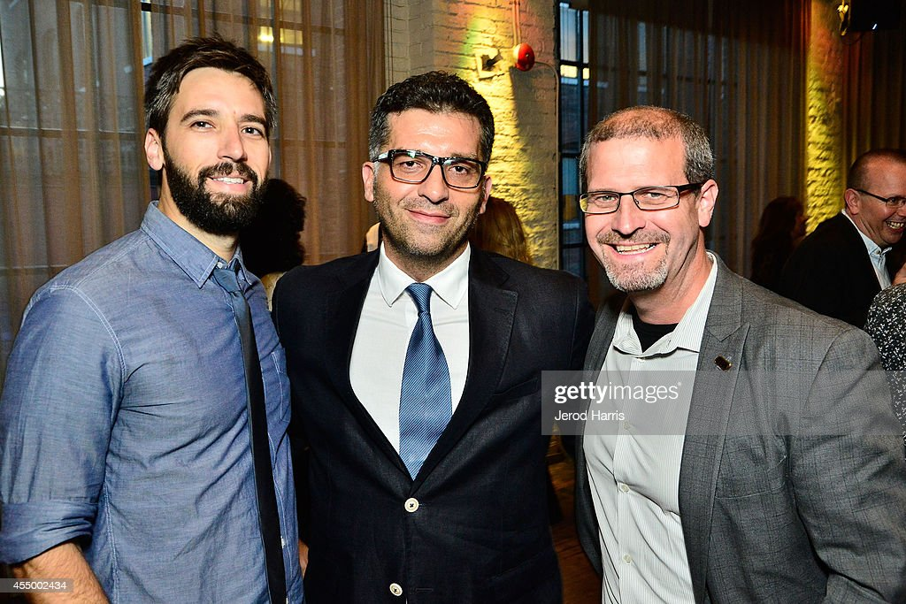 Producer Bill Holderman, director <a gi-track='captionPersonalityLinkClicked' href=/galleries/search?phrase=Danis+Tanovic&family=editorial&specificpeople=590907 ng-click='$event.stopPropagation()'>Danis Tanovic</a> and Managing editor for IMDb Keith Simanton attend IMDb's 2014 STARmeter award at IMDb's Annual TIFF Dinner Party on September 8, 2014 in Toronto, Canada.