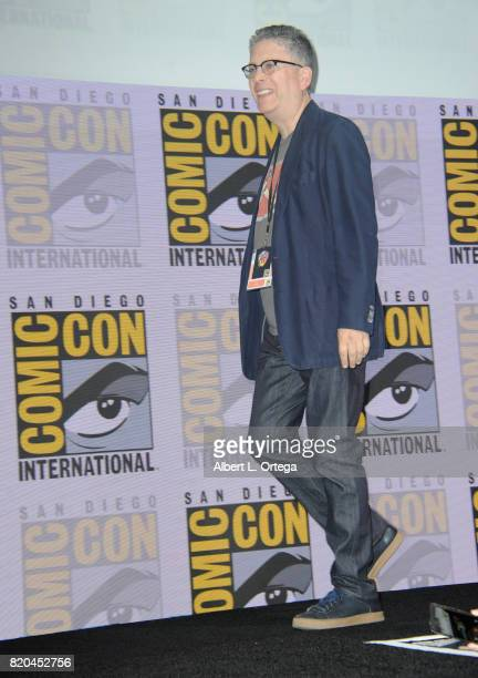 Producer Bill Prady walks onstage at ComicCon International 2017 'The Big Bang Theory' panel at San Diego Convention Center on July 21 2017 in San...