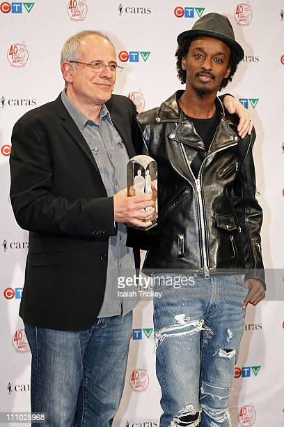 Producer Bob Ezrin and Rapper K'Naan winner of the Single of the Year award at the 2011 Juno Awards at Air Canada Centre on March 27 2011 in Toronto...