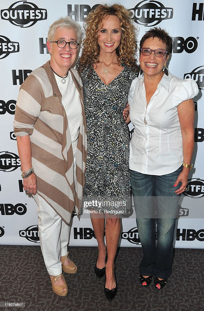 Producer Bobbie Birleffi, singer Chely Wright and producer Beverly Kopf arrive to the 2011 Outfest Special Screening of 'Wish Me Away' at Directors Guild Of America on July 15, 2011 in Los Angeles, California.