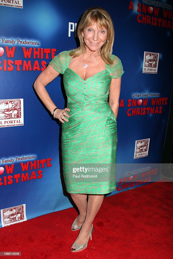 Producer Bonnie Lythgoe arrives at the Pasadena Playhouse and Lythgoe Family Production's 'A Snow White Christmas' at Pasadena Playhouse on December 12, 2012 in Pasadena, California.