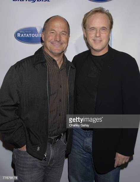 Producer Brad Lewis and director Brad Bird attend the celebration of the releases of 'Ratatouille' on DVD and BluRay and 'Cars' on DVD at Social...