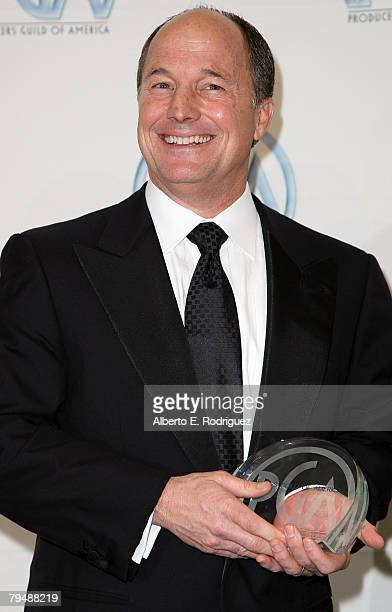Producer Brad Lewis poses with his Producer of the Year award in Animated Theatrical Motion Pictures for 'Ratatouille' in the press room at the 19th...