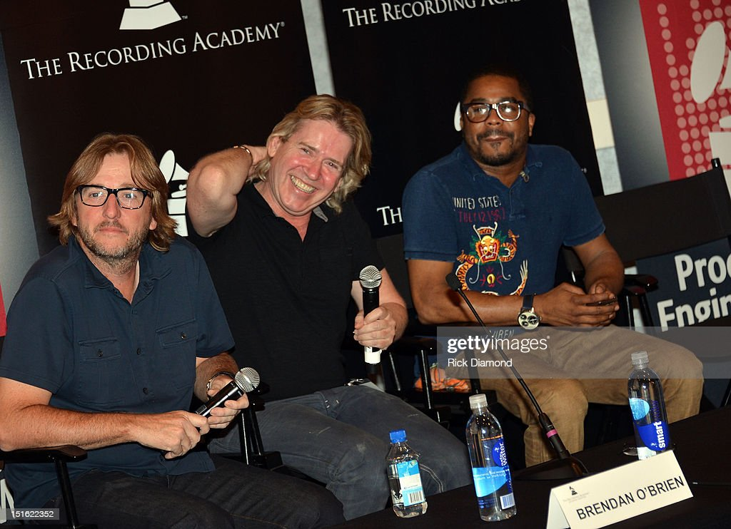 Producer Brendan O'Brien, Producer Steve Lillywhite and Producer Justin 'Just Blaze' Smith attend GRAMMY GPS - A Road Map For Today's Music Pro at W Atlanta Buckhead on September 8, 2012 in Atlanta, Georgia.