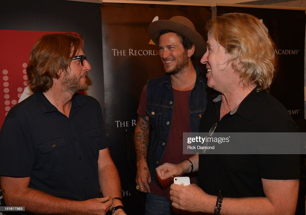 Producer Brendan O'Brien Producer/Singer/Songwriter/ Butch Walker and Producer Steve Lillywhite chat during GRAMMY GPS - A Road Map For Today's Music Pro at W Atlanta Buckhead on September 8, 2012 in Atlanta, Georgia.