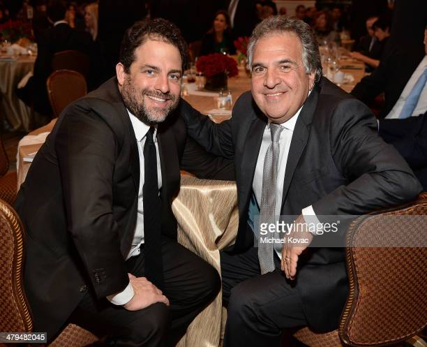 Producer Brett Ratner and Fox Filmed Entertainment CEO Jim Gianopulos attend Simon Wiesenthal Center's 2014 Tribute Dinner at Regent Beverly Wilshire...