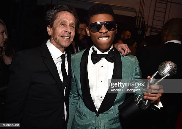 Producer Brian Grazer and actor Bryshere Y Gray attend the 47th NAACP Image Awards presented by TV One at Pasadena Civic Auditorium on February 5...