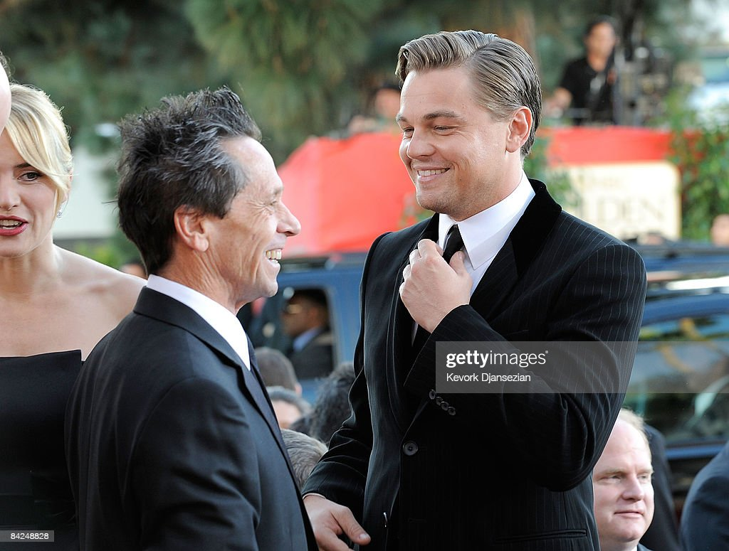 Producer Brian Grazer and actor Leonardo DiCaprio arrive at the 66th Annual Golden Globe Awards held at the Beverly Hilton Hotel on January 11 2009...
